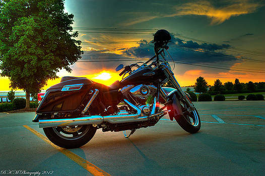 Harley Sunset by Bobby Martin