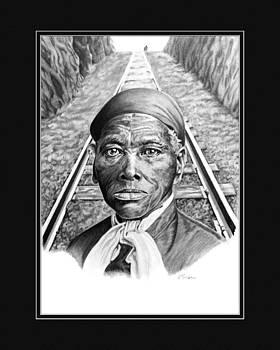 Harriet Tubman with digital mat by Elizabeth Scism