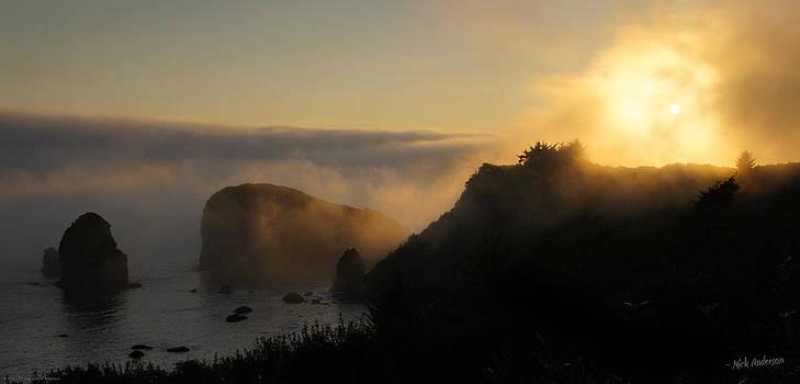Mick Anderson - Harris Beach Sunset Panorama
