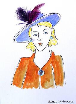 Hat Lady 13 by Bettye  Harwell