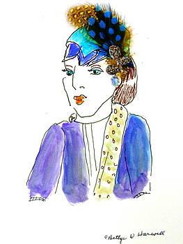 Hat Lady 14 by Bettye  Harwell