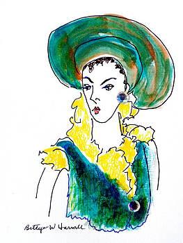 Hat Lady 16 by Bettye  Harwell