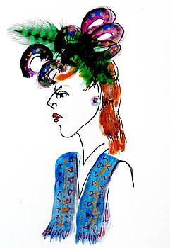 Hat Lady 17 by Bettye  Harwell