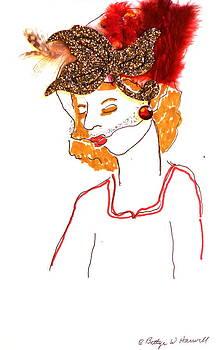 Hat Lady 5 by Bettye  Harwell