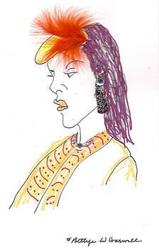 Hat Lady 6 by Bettye  Harwell