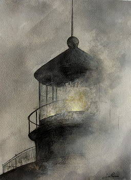 Hatteras Light - Fog by Jim  Romeo