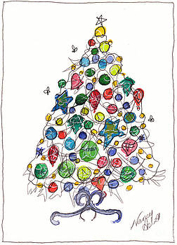 Having A Ball Christmas Tree by Michele Hollister - for Nancy Asbell