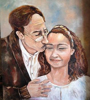 Haya and I/Artist Private Collection  by Farid  Fakhriddin 80x60 cm