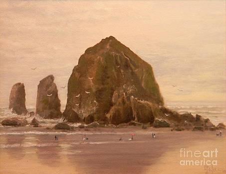 Haystack Rock by Paul K Hill