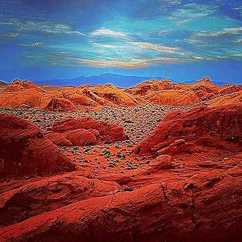 Hdr Photo Of Valley Of Fire In Nevada by Michael Misciagno