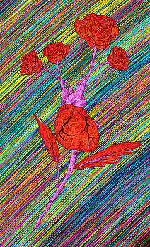 Heart Made of Roses by Kenal Louis