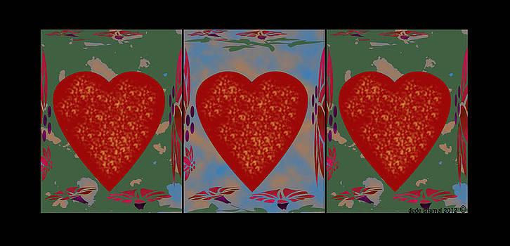 Heart Project Three by Dede Shamel Davalos