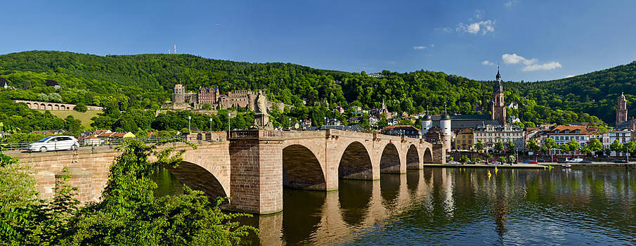 Heidelberg old bridge  by Travel Images Worldwide