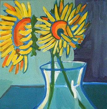Heidi's Sunflowers by Debra Bretton Robinson