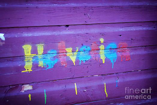Helvetica Graffiti  by Kelsey Horne