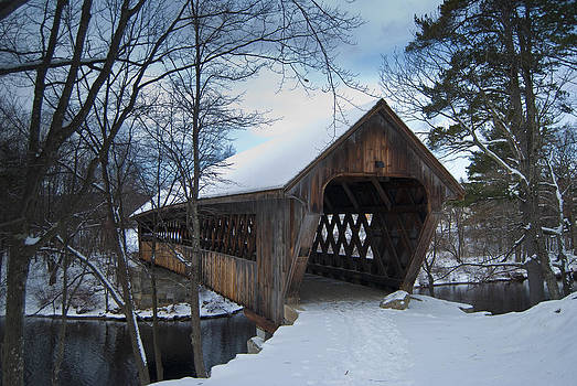 Henniker Covered Bridge by Peggie Strachan
