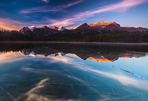 Herbert Lake at Sunrise by Craig Brown