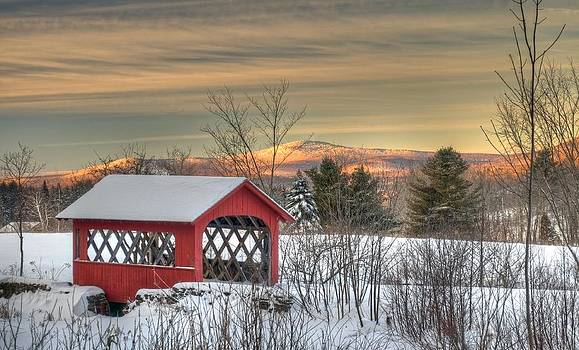 High Mowing Farm Covered Bridge by James Walsh