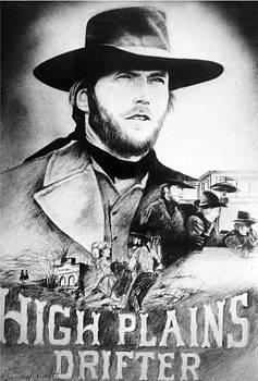 High Planes Drifter Movie Poster by  Gerald Lambert