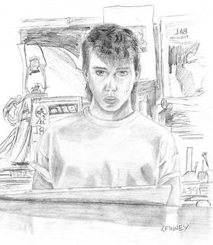 High School Self-Portrait by Corey Finney