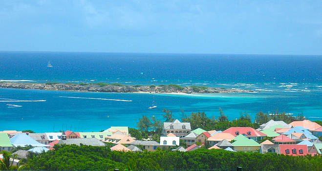 Hillside in St Martin by Stacey Robinson