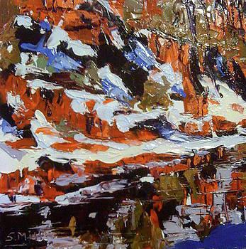 Hillside in winter by Sylvia Miller