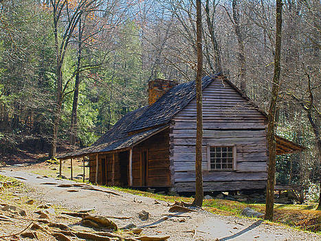 Peter Ciro - Historic Cabin on Roaring Fork Motor Trail in Gatlinburg Tennessee