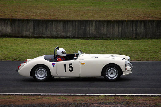 Historic Racing MGA by Douglas Clulow