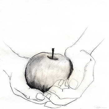 Holding an Apple by Pamela  Corwin