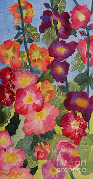 Hollyhocks in Bloom by Kimberlee Weisker