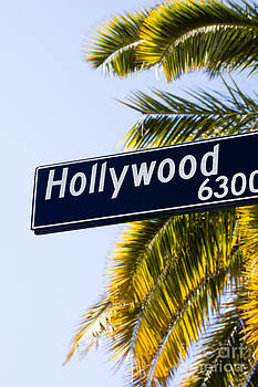 Paul Velgos - Hollywood Street Sign Los Angeles California