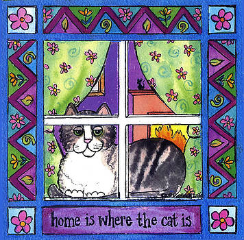 Home is Where the Cat is Square by Pamela  Corwin