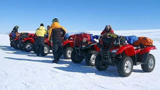 Honda Quads in Antarctic by David Barringhaus