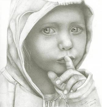 Hooded Girl by Lee Herman