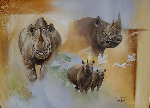 HOPE Black Rhino by Vanessa Lomas
