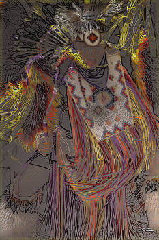 Hopi Native American Dancer by Skip Thomas