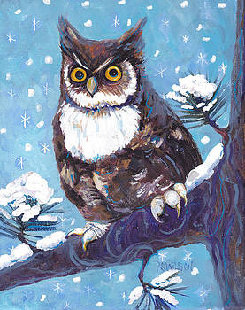 Peggy Wilson - Horned Owl in Snow
