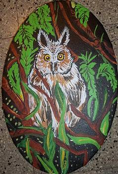Horned owl by Iris Devadason