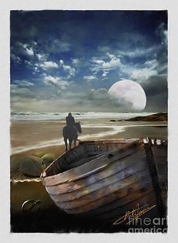 Horse on the beach by Pavlos Vlachos