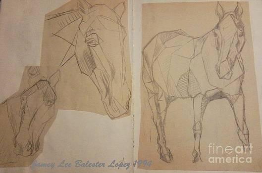 Horse Study Sketchbook by Jamey Balester