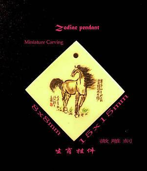 Horse Zodiac  pendant by Jason Zhang