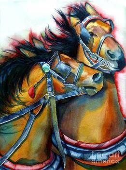Horses on Fire by Gail Zavala