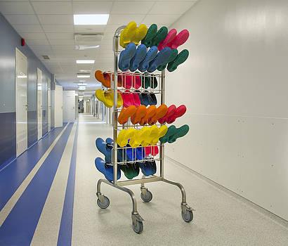 Hospital Corridors. White Walls by Jaak Nilson