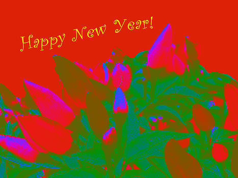 Mother Nature - Hot as a Pepper New Year Greeting Card