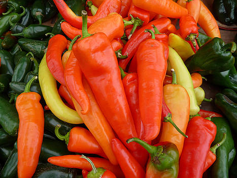Hot Peppers 1 by Andrea Lucas