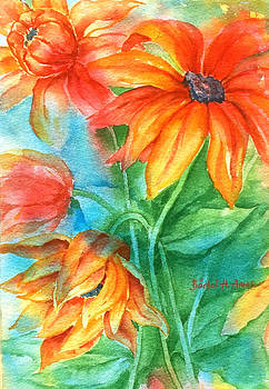 Hot Summer Flowers by Barbel Amos