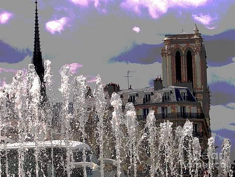 Hotel De Ville - Notre Dame De Paris - Paris - France by Francoise Leandre