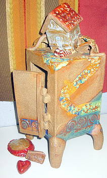 House Fell on My Wicked Witch Treasure Chest by Chere Force