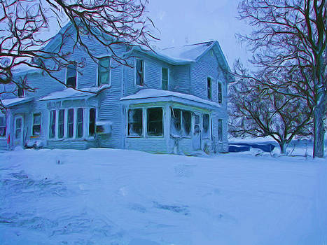 House In A Snow Storm by Victoria Sheldon