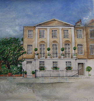 House portrait London SW1 by Rebecca Lilley